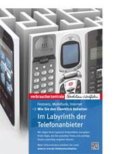 Verbraucherzentrale NRW Plakat Telefon-Kampagne